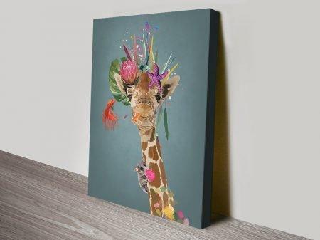 Abstract Giraffe Wall Art by Karin Roberts