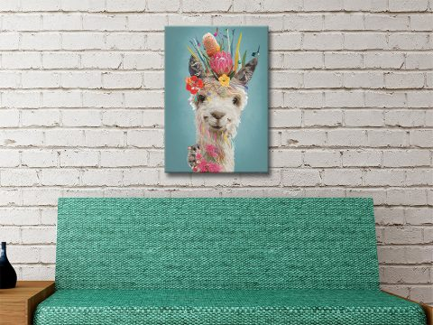 Abstract Llama Artwork by Karin Roberts