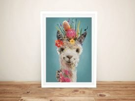 Buy a Framed Abstract Llama Canvas Print