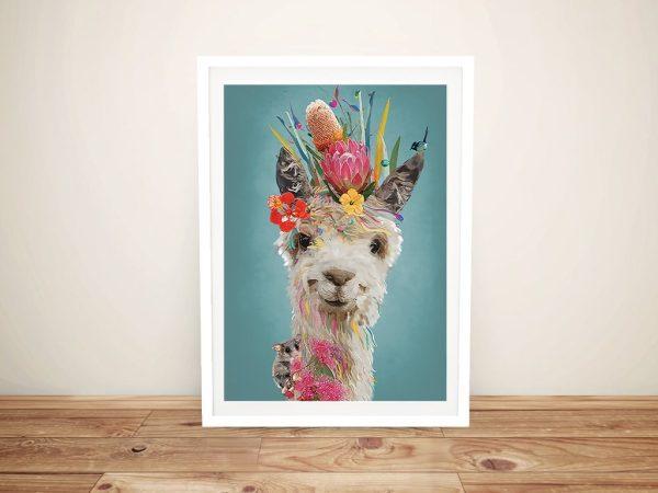Buy a Framed Abstract Llama Canvas Print
