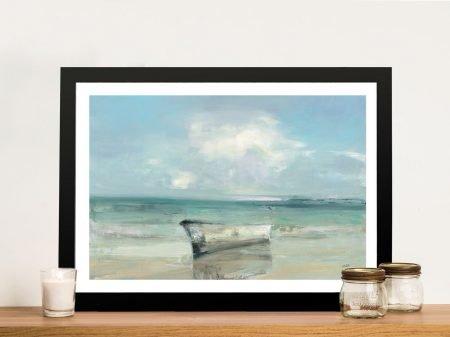 Ashore Framed Watercolour Seascape