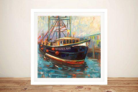 Barbara Ann Framed Nautical Canvas Art