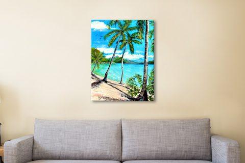 Ready to Hang Tropical Paradise Canvas Art