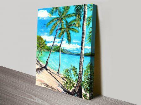 Beach Whitsunday Islands Canvas Print