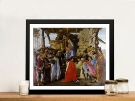Adoration of the Magi Framed Canvas Print
