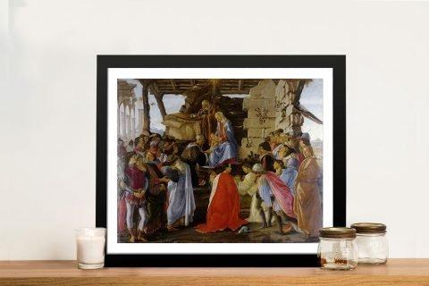 Adoration of the Magi Framed Canvas Print