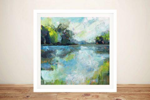 Calm Waters Framed Landscape Artwork AU