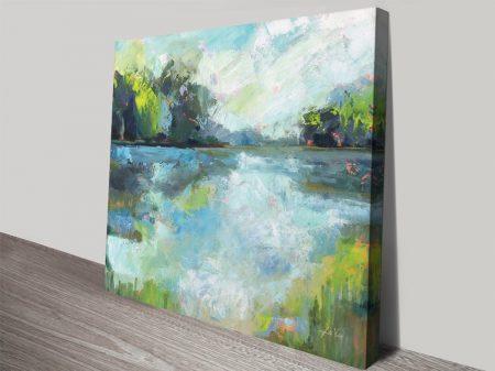 Calm Waters Lakeside Watercolour Wall Art