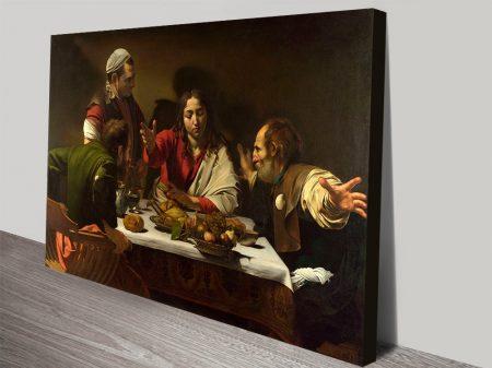 Caravaggio Supper at Emmaus Canvas Art