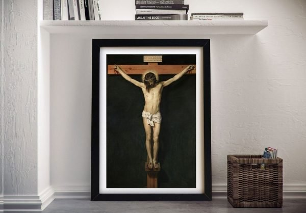 Christ Crucified Framed Classic Canvas Art