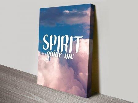 Spirit Guide Me Christian Artwork on Canvas