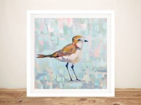 Coastal Plover lll Neutral Art on Canvas