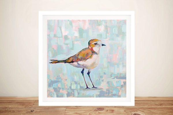 Coastal Plover lll Neutral Art on Canvas