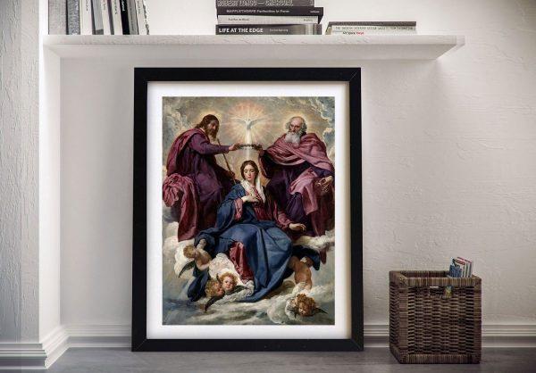 Framed Coronation of the Virgin Velazquez Art