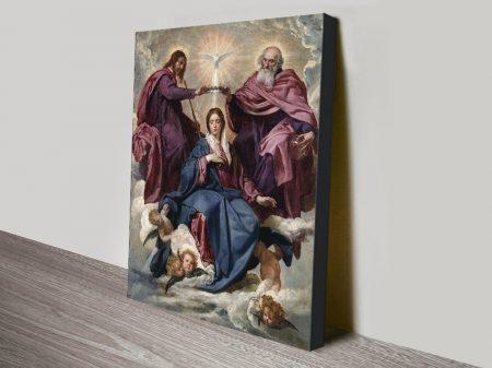 Coronation of the Virgin Religious Wall Art