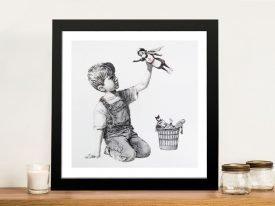 Superhero Nurse Framed Banksy Artwork
