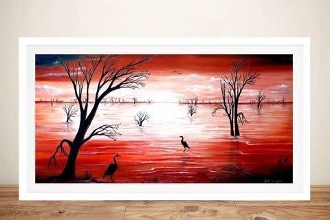 Crimson Skies Framed Linda Callaghan Art