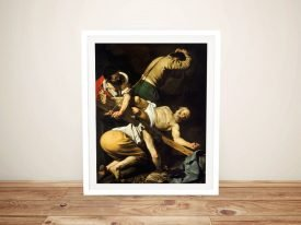 Crucifixion of Saint Peter Framed Caravaggio Print