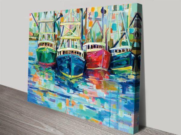 Crush at Black Rock Abstract Nautical Art