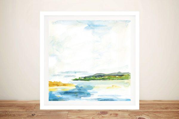 Framed Distant Islands Art Gallery Sale Online