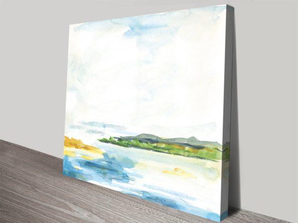 Buy Distant Islands Watercolour Seascape
