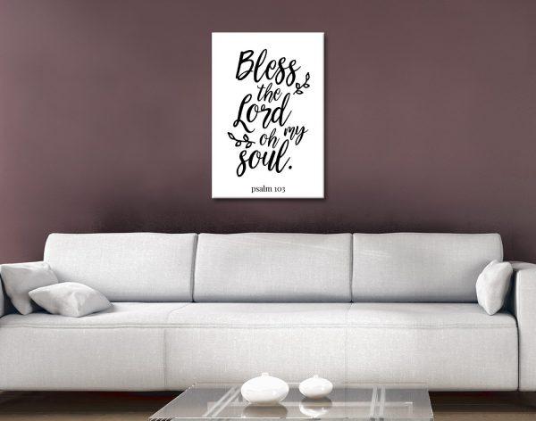 Black & White Christian Art on Canvas AU