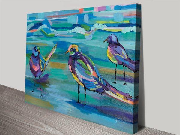 Buy Indigo Gulls Abstract Coastal Wall Art