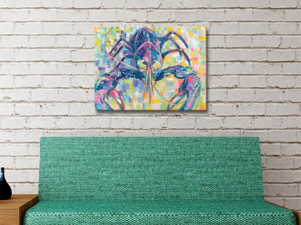 Lilly Lobster Ready to Hang Nautical Wall Art