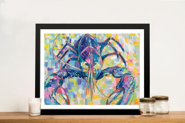 Framed Lobster Print Unique Gifts for Sale AU