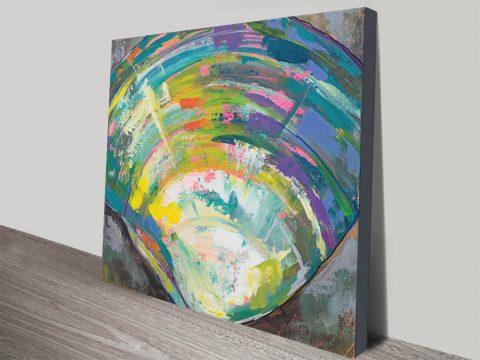 Lilly Quahog Seashell Abstract Art Print