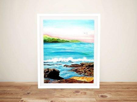 Me and the Sea Framed Linda Callaghan Art