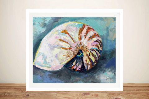 Framed Abstract Watercolour Seashells