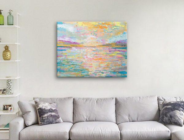 Ocean Sunrise Abstract Jeanette Vertentes Art