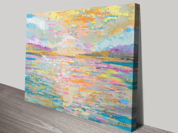 Ocean Sunrise Abstract Seascape Canvas Art