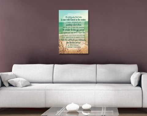 Christian Quote Art with Coastal BackgroChristian Quote Art with Coastal Background und