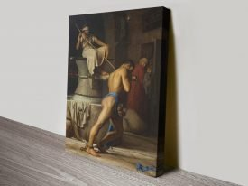 Samson in the Treadmill Christian Wall Art