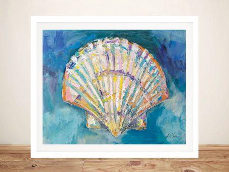 Scallop Shell Nautical Watercolour Print
