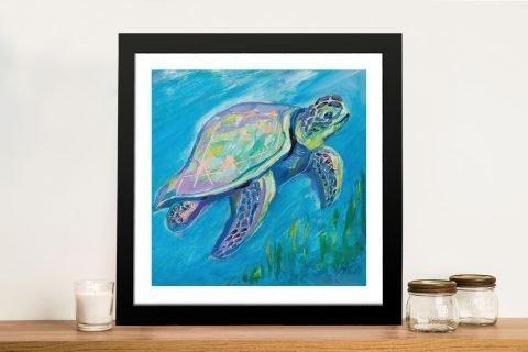 Sea Turtle Swim Underwater Wall Art