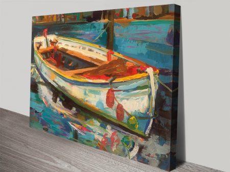 Solo Boat Colourful Nautical Wall Art