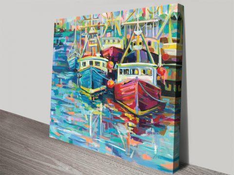 Buy Stonington Docks Nautical Canvas Art