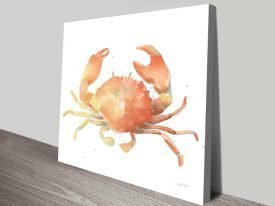 Summertime Crab Sealife Wall Art Prints