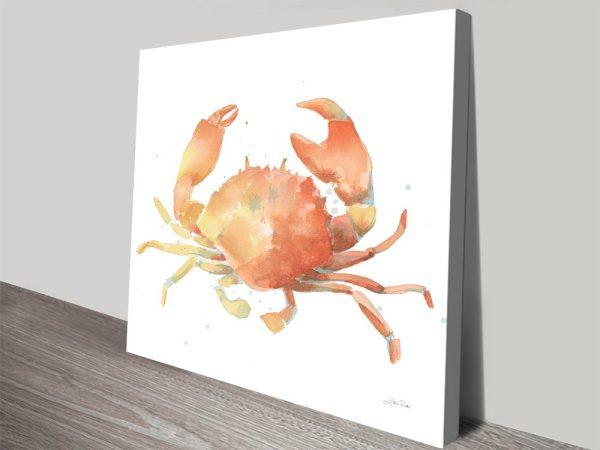 Summertime Crab Sealife Wall Art Prints