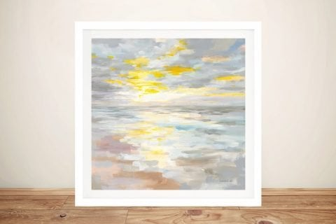 Sunup on the Sea Framed Seascape Art