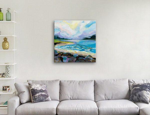 The Coastline Ready to Hang Watercolour Art