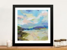 The Shore Framed Jeanette Vertentes Art