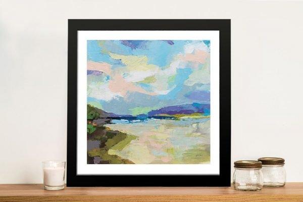 The Shore Framed Jeanette Vertentes Art