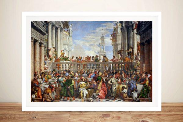 The Wedding at Cana Framed Christian Art