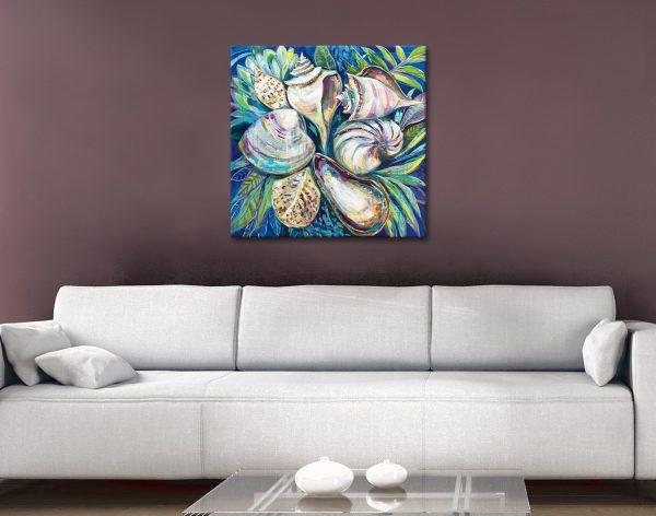Tropical Ready to Hang Seashell Wall Art AU