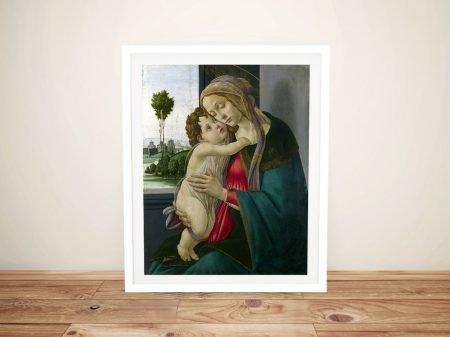The Virgin and Child Framed Botticelli Art