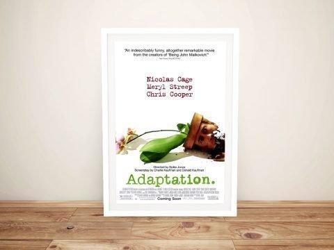Adaptation Framed Movie Poster Canvas Art